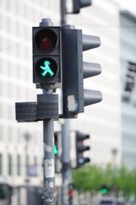 Typical traffic lights in Berlin