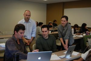 Wikipedia Ambassadors work with Professor Aaron Frank's class at the University of San Francisco.