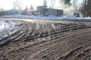 slushed roads
