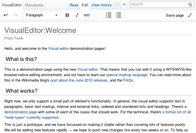 VisualEditor – prosty sposób na edycję Wikipedii 1