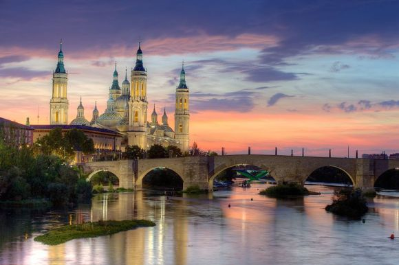 Basilica of Our Lady of the Pillar and the Ebro River, Zaragoza, Wiki Loves Monuments 2012 finalist, Spain