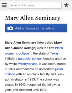 An example of an article lacking images on the mobile English Wikipedia.