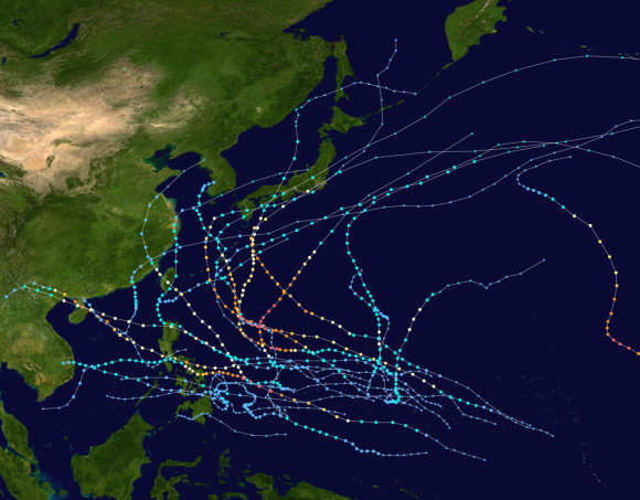 2014 Pacific typhoon season summary
