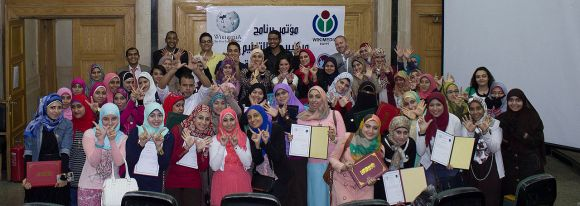 """5th WEP conf Cairo cropped"" by Mohamed Ouda, licensed under CC-BY-SA-4.0."