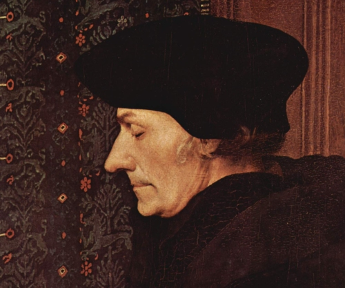 Desiderius Erasmus was a renowned humanist, scholar and theologian. Erasmus portrait by Hans Holbein the Younger, from Le Musée du Louvre. Public Domain.