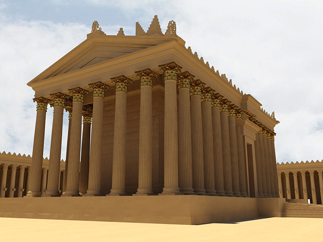 A digital reconstruction of the Temple of Bel from the New Palmyra project. Image by Bassel Khartabil.